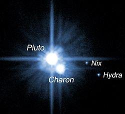 Pluto och satelliter